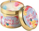 Geurkaars in blik - Birds of Paradise - 7,7 x 7,7 x 7,7 cm - 35-40 branduren - Bomb Cosmetics