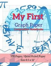 My First Graph Paper Composition Notebooks: Maths Or Science Composition Notebook For Students With Quad Ruled 5 Squares per inch Graph Paper Suitable