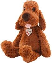 Trudi Knuffel Hond 45 Cm Bruin
