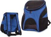 Draagtas Kat / Hond- Reis- en Transporttas voor Kleine Honden- en Katten - 45 x 20 x 28cm - Roze & Blauw Camo