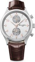William L. 1985 WLAC02GOCM horloge heren - bruin - edelstaal