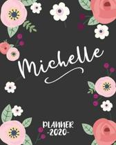 Michelle: Personalized Name Weekly Planner. Monthly Calendars, Daily Schedule, Important Dates, Goals and Thoughts all in One!
