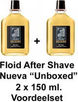 """Floid After Shave Nueva -""""Unboxed""""- 2 x 150 ml. Voordeelset 2 Stuks!!"""