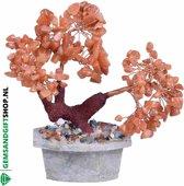Rode Aventurijn Edelsteen Bonsai boom - Gems and Giftshop