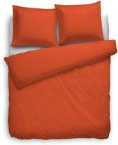 HNL Refined Uni Stripe Dekbedovertrek - 200x200 + 2/80x80 cm - Mecca Orange
