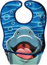 Slim slabbetje: Dura-Bib slabber Dolfijn (large)