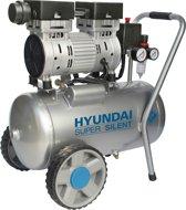 Hyundai stille compressor 24 liter met vochtafscheider - olievrij - 8 BAR - 59 dB 'Super Silent'.