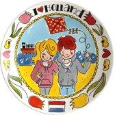 Blond Amsterdam I Love Holland Plat Bord 26 cm Strand
