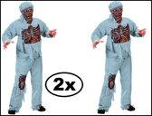 2x Zombie Walking dead dokter mt.M/L