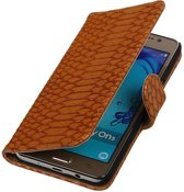 Samsung Galaxy On5 Hoesje Slang Bookstyle Bruin