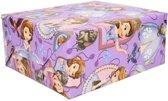 Inpakpapier Prinses Sofia op rol - 200 x 70  cm - cadeaupapier / kadopapier