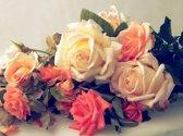 Papermoon Vintage Roses Vlies Fotobehang 200x149cm 4-Banen