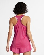 Nike Court Dry tank top dames roze/wit