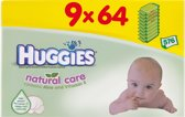 Huggies Natural Care - Billendoekjes 9-pack