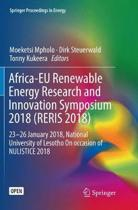 Africa-EU Renewable Energy Research and Innovation Symposium 2018 (RERIS 2018)