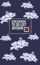 Checkbox To Do List Notebook