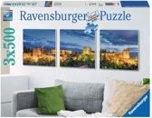 Ravensburger - Alhambra Puzzel in de avond drieluik 3 x 500 stukjes 199.181