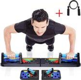 Push up bord - 9 in 1 Full Body - Met gratis springtouw - Opdruk steun - Grip - Fitness parallettes - Bar