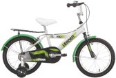 Leader Kid Boy - Kinderfiets - 16 Inch - Jongens - Wit/Groen
