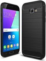 Samsung Galaxy A5 2017 Geborsteld TPU Hoesje Zwart