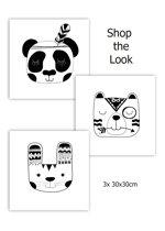 Kinderkamer Poster, Kinderkamer wanddecoratie, Poster zwart wit, Poster dieren, Baby Accessoires,