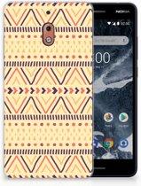 Nokia 2.1 (2018) Uniek TPU Hoesje Aztec Yellow
