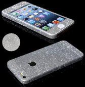 Xssive Glitter Sticker voor Apple iPhone 5, Apple iPhone 5s, iPhone SE Zilver Duo Pack/2 stuks
