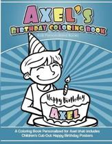 Axel's Birthday Coloring Book Kids Personalized Books
