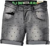 DJ Dutchjeans Jongens Jeans Short - Black jeans + aop - Maat 92
