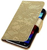 Lace Goud Samsung Galaxy Core I8260 - Book Case Wallet Cover Hoesje