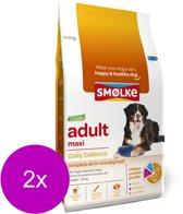 Smolke adult maxi brokken hondenvoer 2x 12 kg