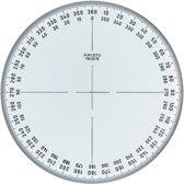 Kompasroos Aristo 360° 12 cm glashelder plexiglas