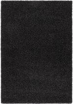 Hoogpolig tapijt zwart 30 mm - 60 x 110 cm