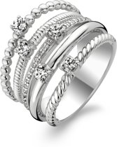 TI SENTO Milano Ring 1863ZI - Maat 60 (19 mm) - Gerhodineerd Sterling Zilver