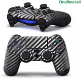 PS4 dualshock Controller PlayStation sticker skin | Zwart karbon