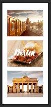 Collagelijst Zwart met passepartout - 3x 13x18 foto's