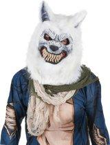 Wit wolven masker voor volwassenen  - Verkleedmasker - One size