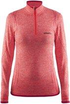 Craft Active Comfort Zip Sportshirt Dames - Crush