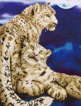 Diamond Dotz ® painting Snow Leopards (52x77 cm)