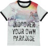 Losan Jongens Shirt Wit met print K16 - Maat 128