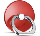 Ronde Ring vinger houder- standaard voor telefoon of tablet - Rood