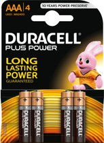 Duracell AAA Plus Power Alkaline Batterijen - 4