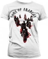 Sons Of Anarchy shirt dames wit Xl