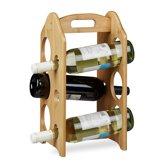 relaxdays - wijnrek bamboe voor 6 flessen - flessenrek - flessenhouder voor wijn
