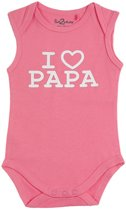 Fun2Wear Romper love papa Pink maat 62