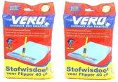 Vero Flipper Stofwisdoek - 40x25cm - 100 stuks (2x50) - Navulverpakking Duopack