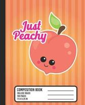 Just Peachy Composition Book