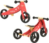 2Cycle 2 in 1 Loopfiets/Driewieler - Hout - Rood