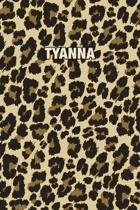 Tyanna: Personalized Notebook - Leopard Print Notebook (Animal Pattern). Blank College Ruled (Lined) Journal for Notes, Journa