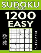 Sudoku Book 1,200 Easy Puzzles